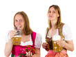 Girl drinking too much beer