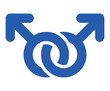 Two male gender symbol