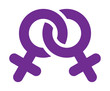 Two female gender symbol