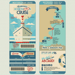 Honeymoon cruise boarding pass