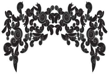Silhouette curly frame shapes use for background decorations