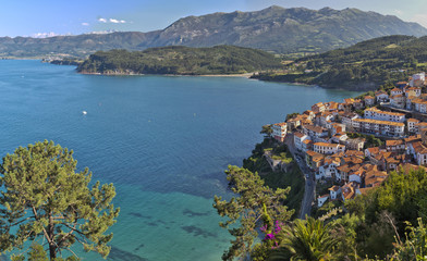 View Lastres, located  in Asturias, northern Spain.