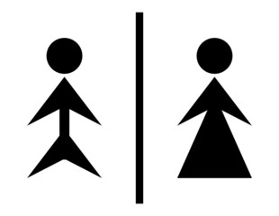 Toilet sign - wc sign