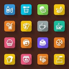 Beakfast flat icons