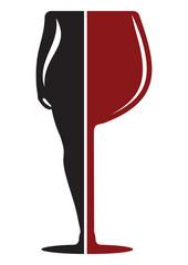 wine woman symbol