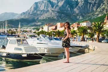beautiful girl at quay