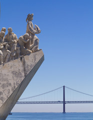 Monument to the Discoveries and Bridge, Lisbon, Portugal