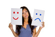 canvas print picture - weinen oder lachen