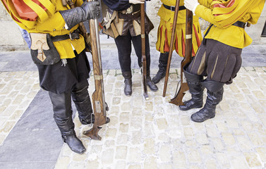 Old yellow army uniform