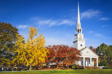 Southern Church in the Autumn