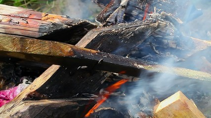Bonfire at outdoor