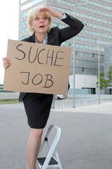 Geschäftsfrau sucht Job