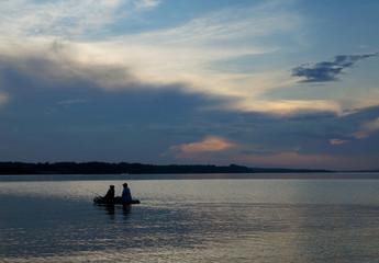 Summer  sunset,  fishers