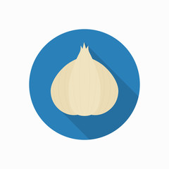 garlic icon illustration