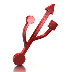 Red usb icon