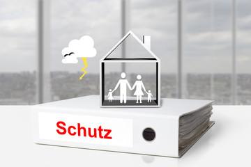 ordner schutz gewitter eigenheim familie