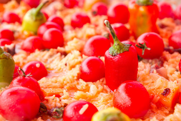 Pilaf with tomato