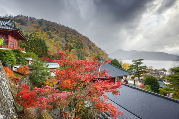 Chuzenji Temple in the Autumn in Nikko, Japan