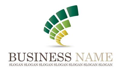 Logo bio abstrait