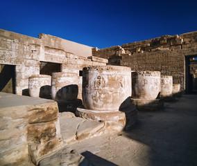 Egypt, Luxor, Medinet Abu Temple ruins - FILM SCAN