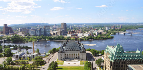 Foto op Canvas Canada Canada Supreme Court and Gatineau Skyline aerial view, Ottawa
