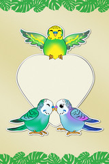 Budgies Love Message (with Path)