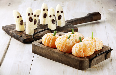 Healthy Fruit Halloween Treats