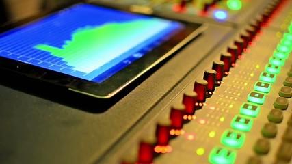 Music studio audio mixer