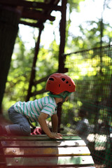 Kid climber training