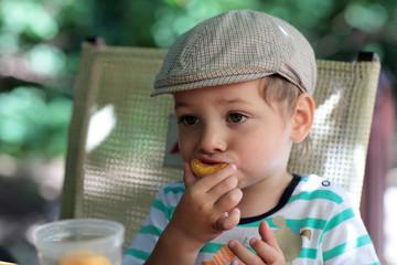 Child has peach