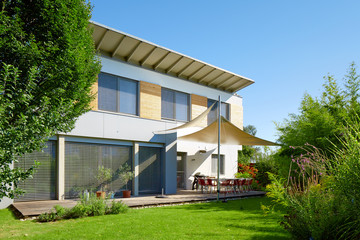 Modern house with garden