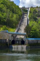 Hydroelectric dam in the Czech Republic