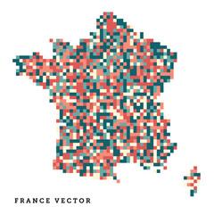 Pixel art outline of France