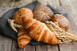 canvas print picture - Fresh croissants