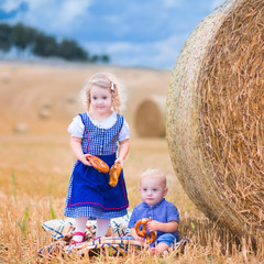 Beautiful kids during Oktoberfest