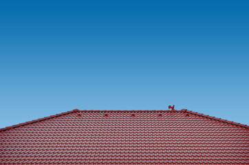 roof with clay tiles