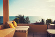 sea view from balcony of home or hotel room - 69690467
