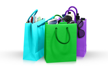 Colorful Shopping Bags and accessories