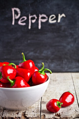 red hot peppers in bowl