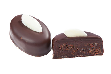 Image of delicious dark chocolate candy