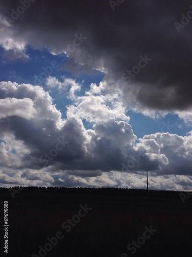 canvas print picture Regenwolken