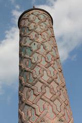 The Minaret of Yakutiye Madrasah in Erzurum, Turkey.