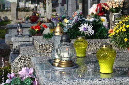 Foto op Plexiglas Begraafplaats Cmentarz