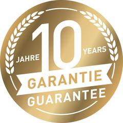 Siegel Gold 10 Jahre Garantie
