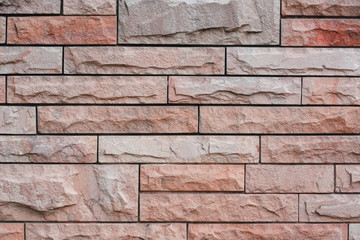 Pink sand stone wall for background