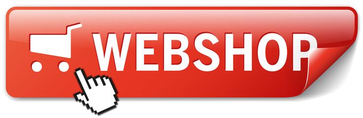 Button Webshop mit Mauszeiger rot