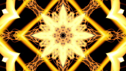 Yellow and Black Cosmic Web VJ Looping Animated Background