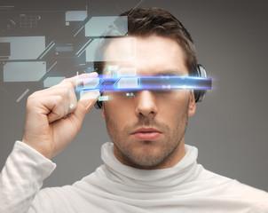 man in futuristic glasses