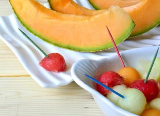 Cantaloupe melon.