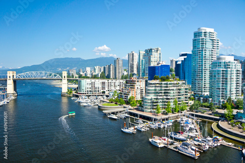 Plexiglas Canada Beautiful view of Vancouver, British Columbia, Canada